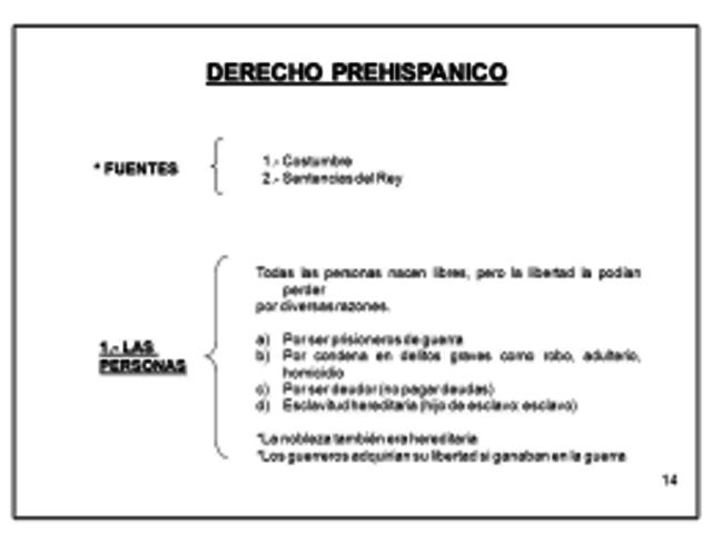 Derecho prehispánico