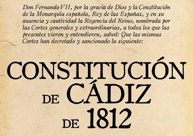 La Constitución de Cádiz del 19 de marzo de 1812