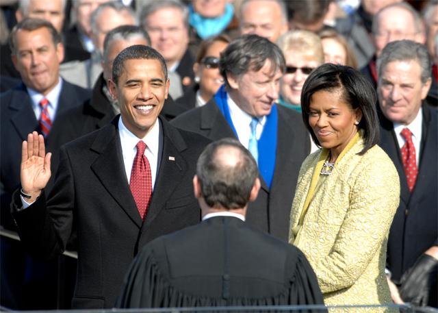 Barack Obama Sworn in as U.S. President