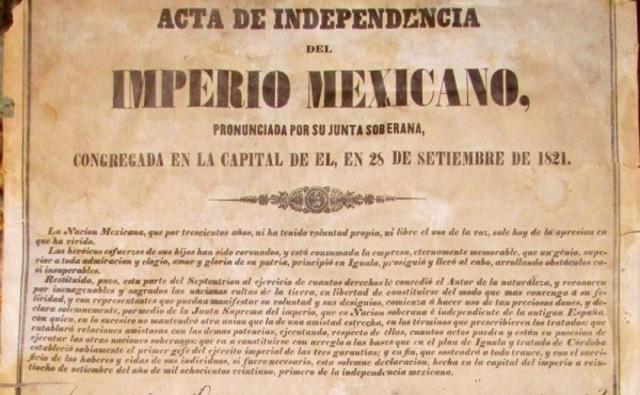 El Acta de Independencia Mexicana