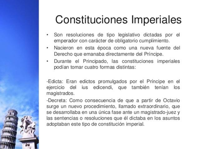 Las Constituciones Imperiales