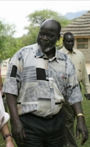 Garang become the VP of Sudan
