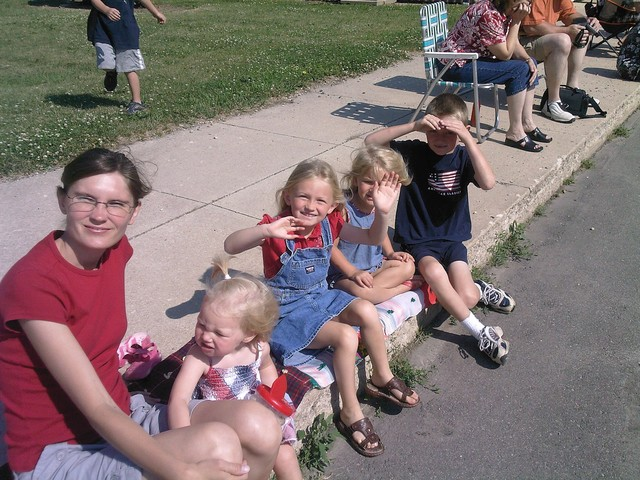 At the parade