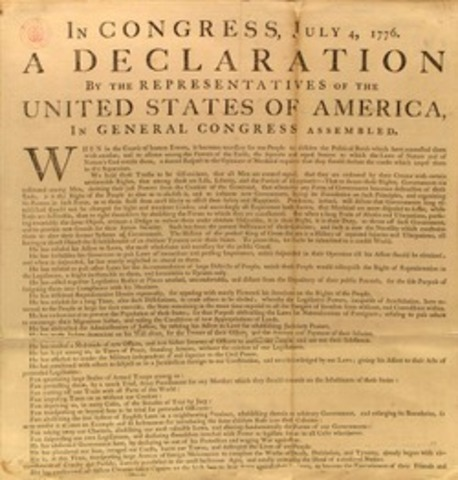 The Declaration of Independence declares that all men are created equal