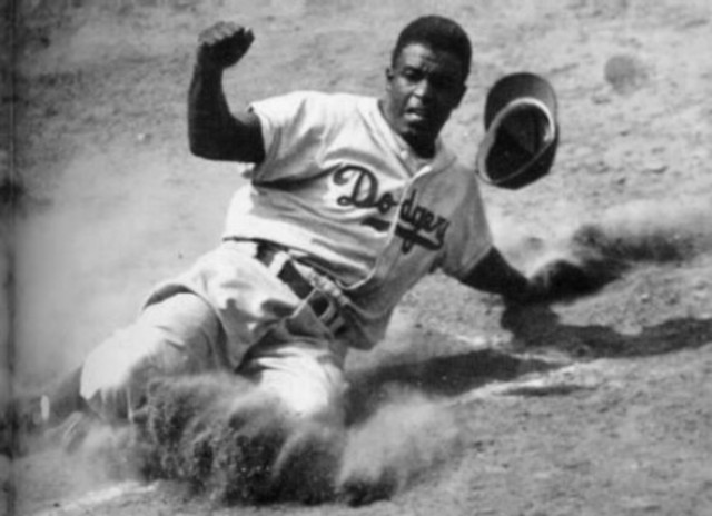 Jackie Robinson's first home run