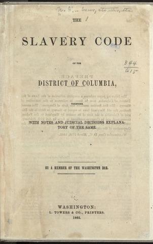 """""""Slave Code"""" laws"""