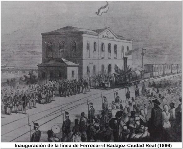Inauguración de la línea de Ferrocarril Badajoz-Ciudad Real