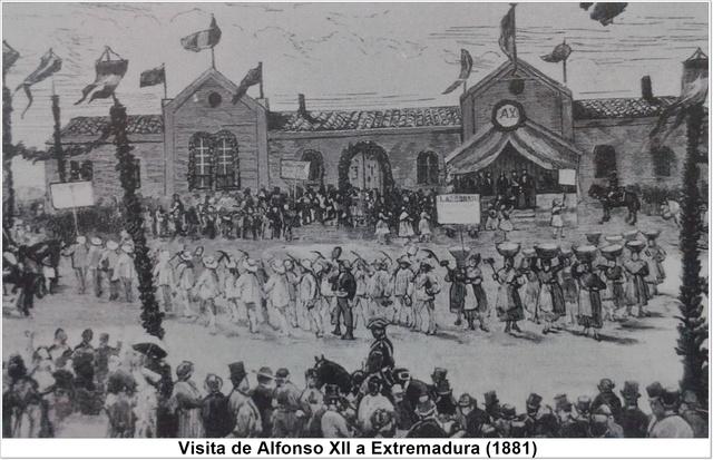 Alfonso VIII visita Extremadura