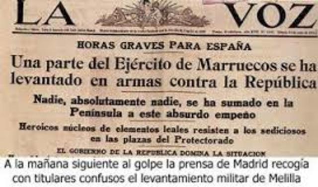 Alzamiento militar del General Franco
