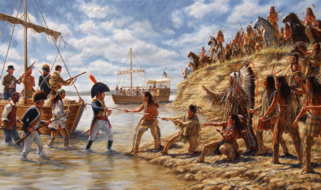 Experience of a Unfriendly Encounter with the Sioux Tribe