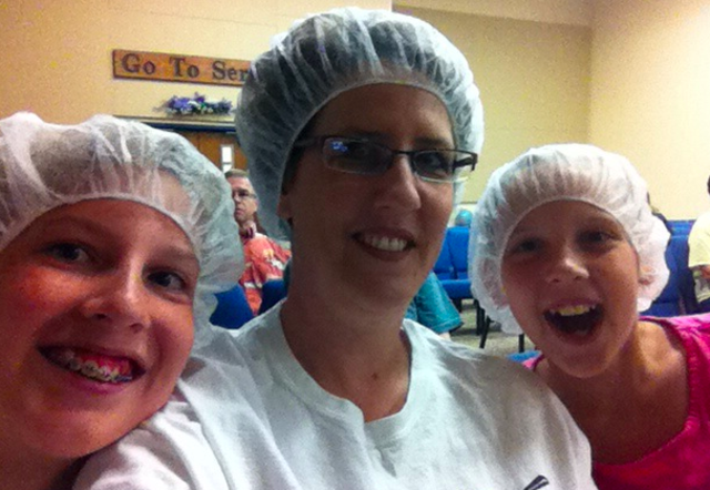 Packing Food For The Salvation Army