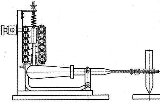 Установка Н.Н. Бенардос для дуговой сварки с автоматическим регулированием дуги