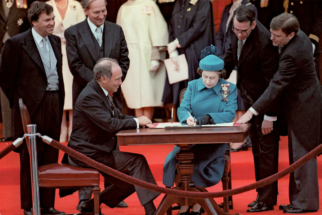 Constitution Act of 1982 signing