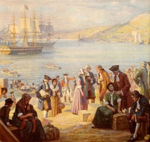 First Loyalists land at Saint John, N.B.