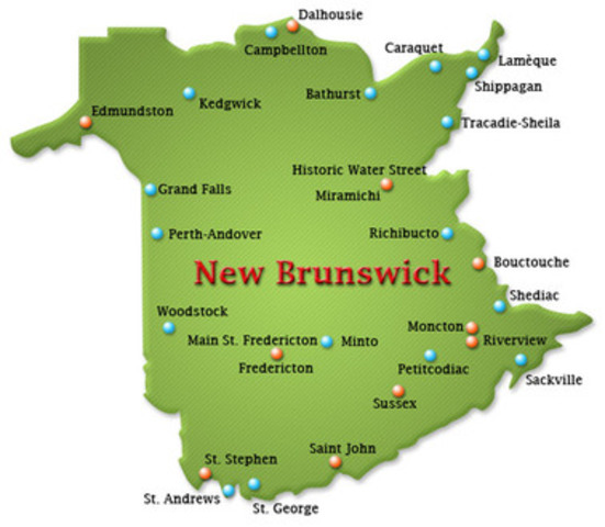 Province of New Brunswick formed.