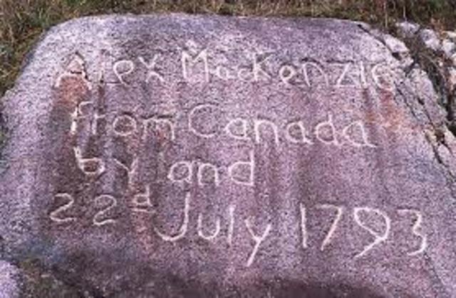 Alexander Mackenzie went to Pacific Ocean coast