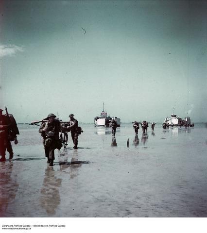 Canadian storm Juno beach