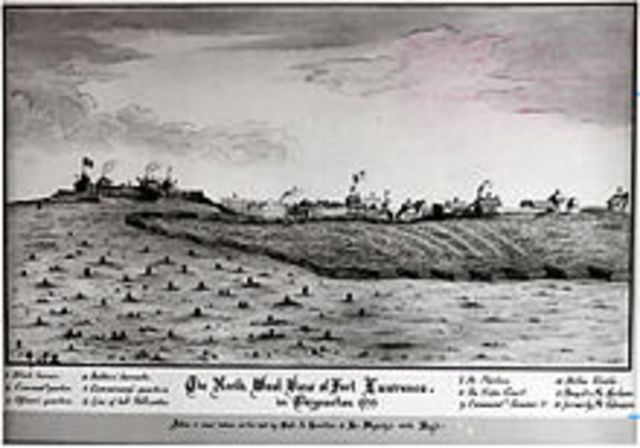 Establishment of Fort Lawrence - Colonies and Settlements