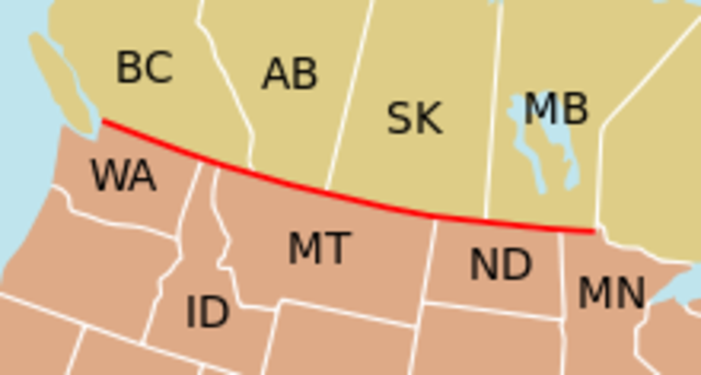Canada and USA border - Notable Event