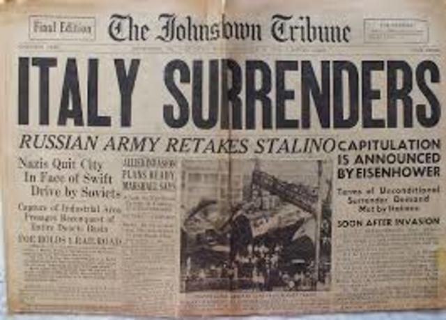 Italian surrender is announced
