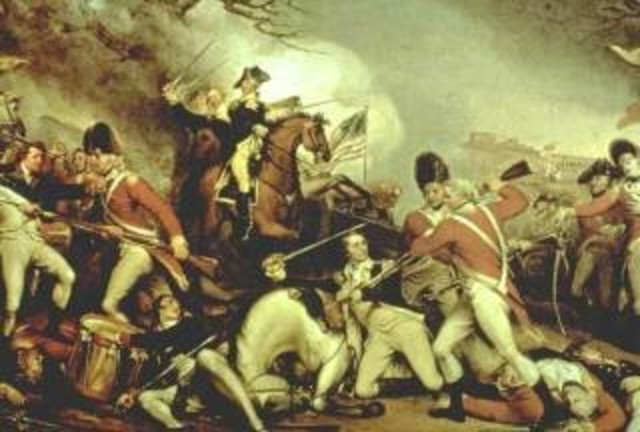 {Wars & Battles} - The American Revolution begins gaining independence from Great Britain for the Thirteen Colonies