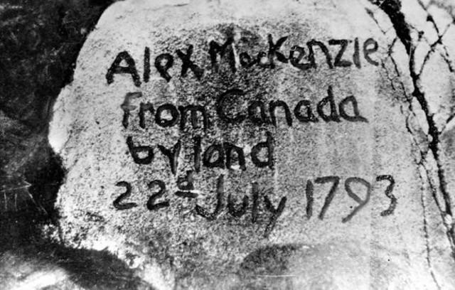 {Colonies & Settlements} - exploration of Alexander Mackenzie