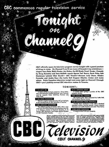 The beginning of Canadian television