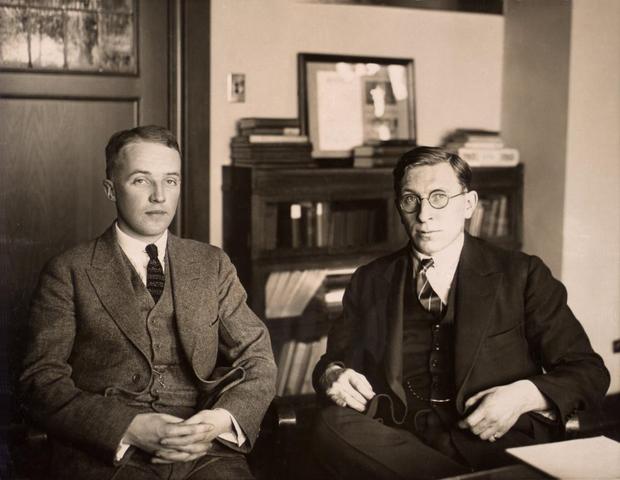 Frederick Banting and J.J.R. Macleod receive Nobel Prize