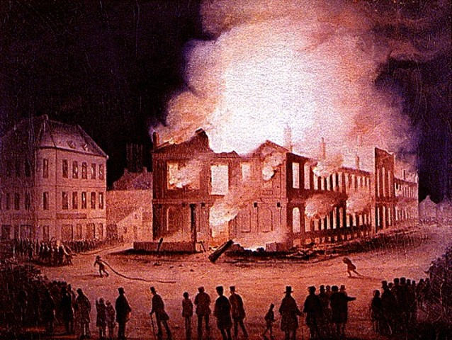 {Wars & Battles} - burn of parliament buildings