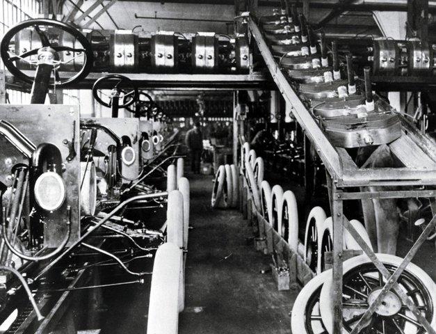 Конвейерная линия завода Форд