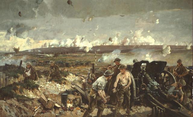 Canadians fighting at Vimy Ridge