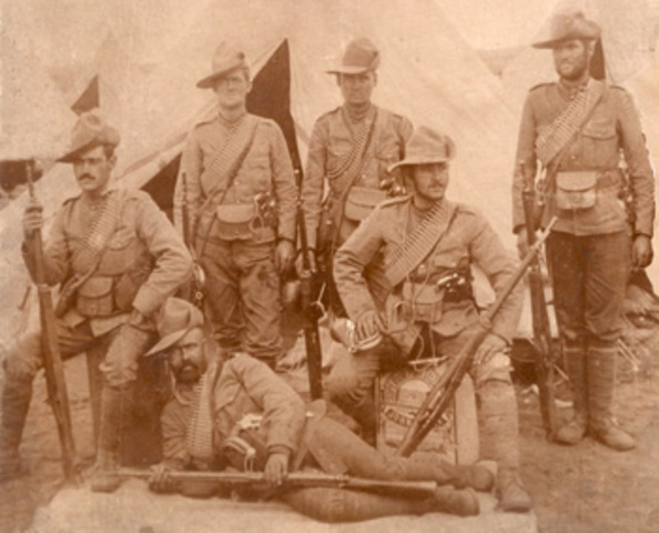 Canadian troops sent to the Boer war