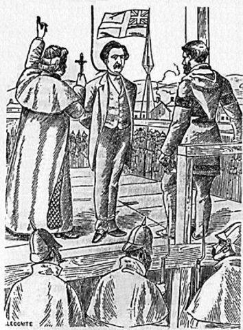 Louis Riel hanged