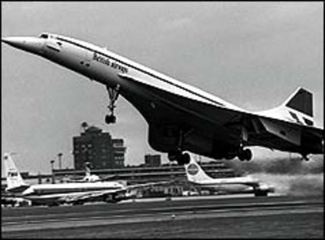 Commercial flight concorde