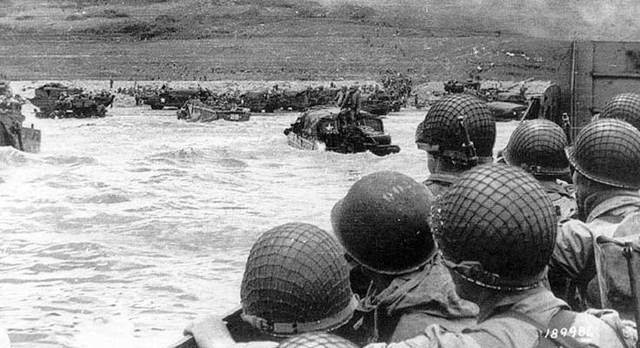 Invasion of Normandy France as part of WW2