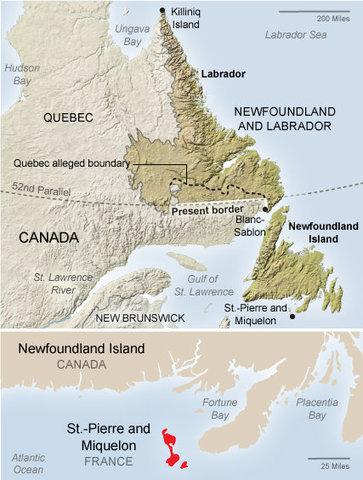 Newfoundland wins a 25-year boundary dispute