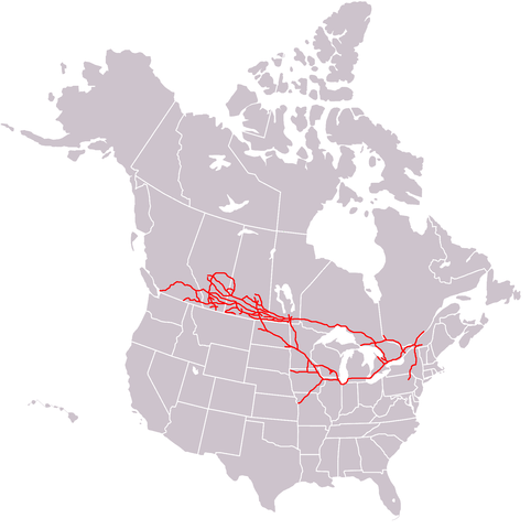 Canadian Pacific Railway, linking Montreal to Port Moody, B.C