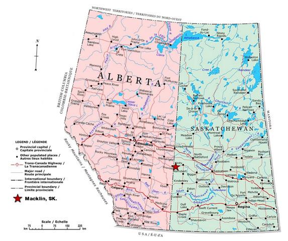 Alberta and Saskatchewan became official provinces