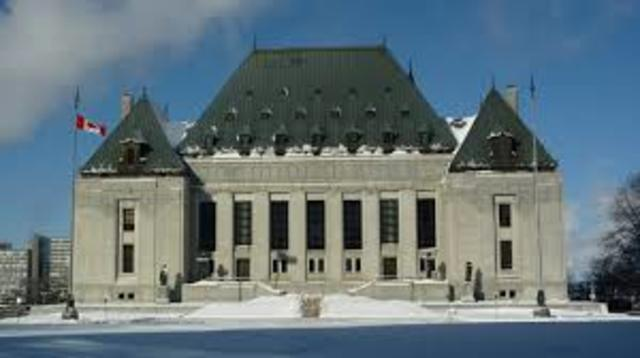 The Supreme Court of Canada is establsihed