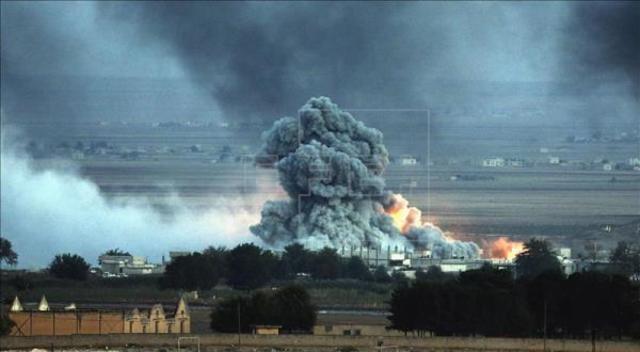 Ocho bombardeos en Hasaka.