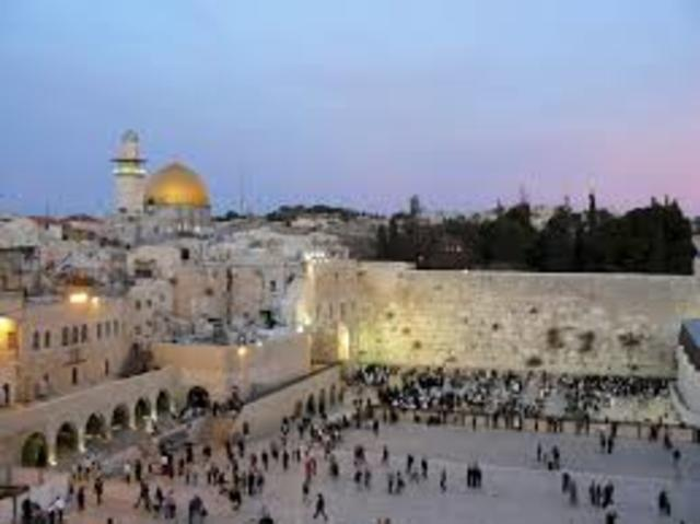 A partida para Palestina.