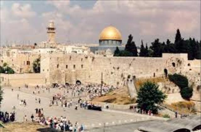 A chegada à Palestina
