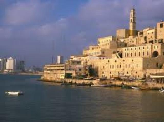 Partida para o porto de Jafa