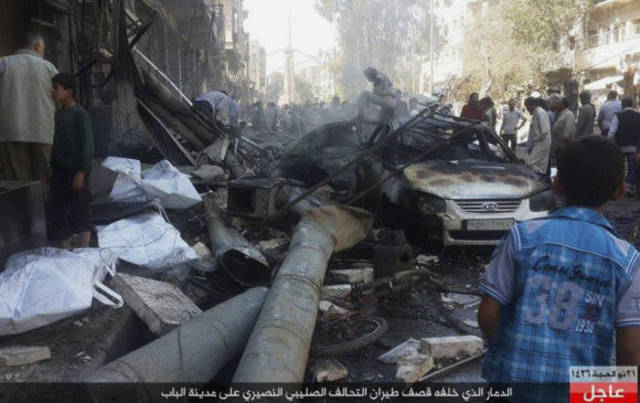 Bombardeos rusos en Palmira.