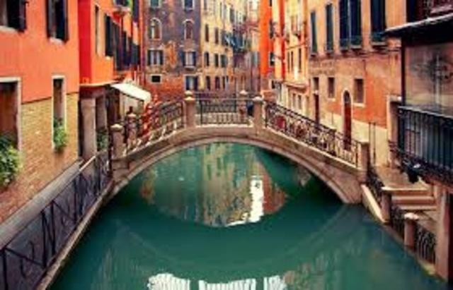 O cavaleiro chegou a Veneza