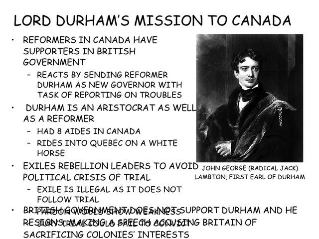 General Lord Durnham