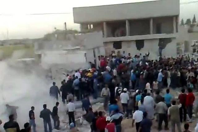 Bombardeo en Hama.