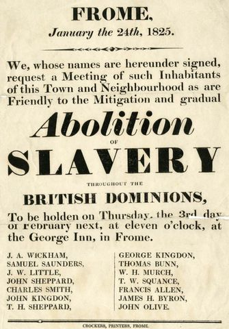 Slavery Abolished in British Colonies