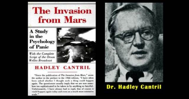 'The Invasion from Mars. A study in the Psychology of Panic', de Hadley Cantril