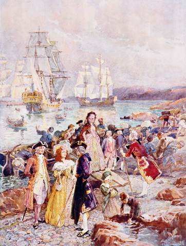 43,600 Loyalists Arrive in Canada